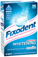 Fixodent Antibacterial Advanced Whitening Denture Cleanser 36 ct Box