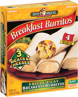 Don Miguel® Triple Play Breakfast Burritos 4 ct Box