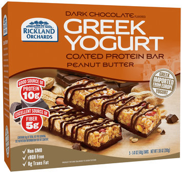 Rickland Orchards™ Dark Chocolate Flavored Greek Yogurt Coated Peanut Butter Protein Bar 5-1.41 oz. Bars