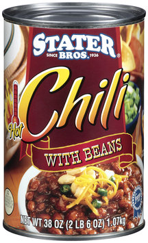 Stater Bros. W/Beans Hot Chili 38 Oz Can