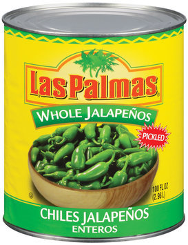 Las Palmas Whole Chiles Jalapenos 100 Oz Can