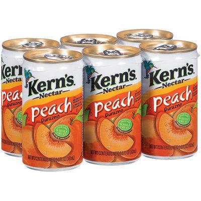 Kern's Peach 5.5 Oz Nectar 6 Pk Cans