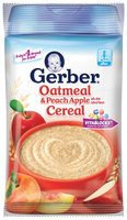 Gerber Cereal Oatmeal & Peach Apple .53 Oz Pouch