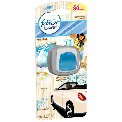 Febreze Car Vent Clips Wave Crasher Air Freshener (1 count; 0.06 Fl Oz each)