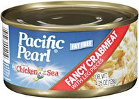 PACIFIC PEARL Fancy W/Leg Pieces Crabmeat 6 OZ CAN