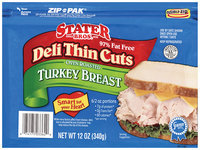 Stater Bros. Oven Roasted Deli Thin Cuts Turkey Breast 12 Oz Zip Pak
