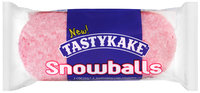 Tastykake® Snowballs Coconut & Marshmallow Covered Creme Filled Chocolate Cakes