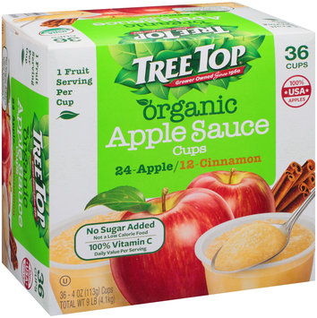 Tree Top® Organic No Sugar Added Apple/Cinnamon Apple Sauce Variety Pack 36-4 oz. Cups