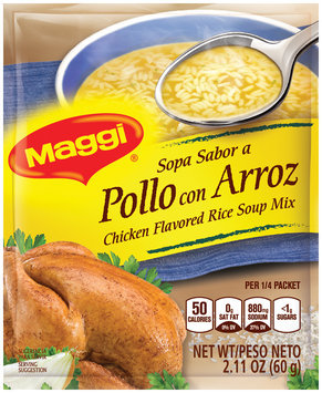 MAGGI Chicken Flavor Rice Soup Mix 2.11 oz. Packet