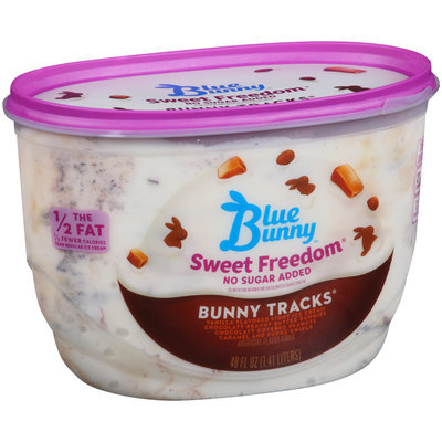 Blue Bunny™ Sweet Freedom® No Sugar Added Bunny Tracks® Ice Cream 48 fl. oz. Tub