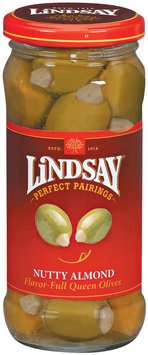 Lindsay Perfect Pairings Nutty Almond Stuffed Queen Olives 4.5 Oz Jar