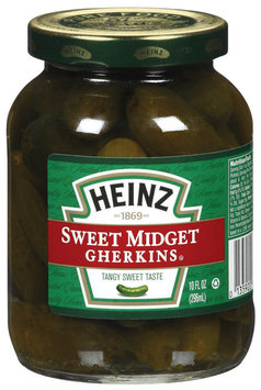 Heinz Sweet Midget Gherkins Pickles 10 Oz Jar