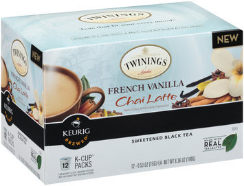 Twinings® of London French Vanilla Chai Latte Sweetened Black Tea 12 K-Cup® Packs