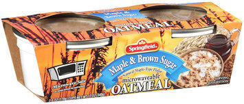 Springfield Maple & Brown Sugar Microwaveable Oatmeal 2-6 oz. Cups