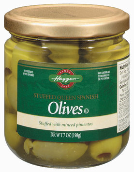 Haggen Stuffed Queen Spanish W/Minced Pimentos Olives 7 Oz Jar