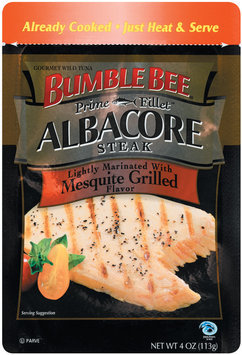 Bumble Bee Prime Fillet Lightly Marinated W/Mesquite Grilled Albacore Steak 4 Oz Peg
