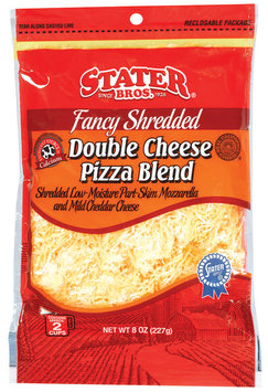 Stater Bros. Double Cheese Pizza Blend Fancy Shredded Cheese 8 Oz Peg