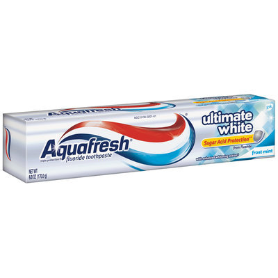Aquafresh® Triple Protection® Ultimate White Frost Mint Toothpaste 6 oz. Box