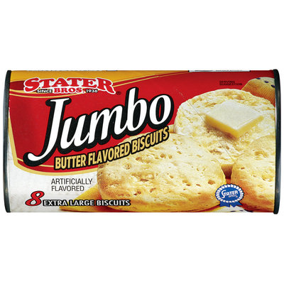 Stater Bros. Jumbo Extra Large Butter Flavored Biscuits 8 Ct Can
