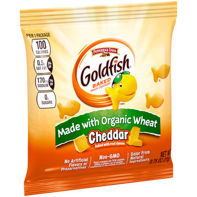 Pepperidge Farm® Goldfish® Cheddar Made with Organic Wheat Baked Snack Crackers 0.75 oz. Pouch