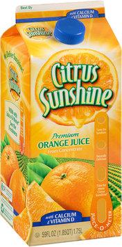 Citrus Sunshine® Premium Orange Juice from Concentrate with Calcium & Vitamin D 59 fl. oz. Carton