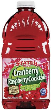 Stater Bros. Cranberry Raspberry Cocktail Juice 64 Oz Plastic Bottle
