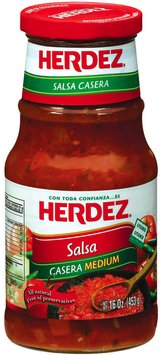 Herdez® Casera Medium Salsa 16 oz. Jar