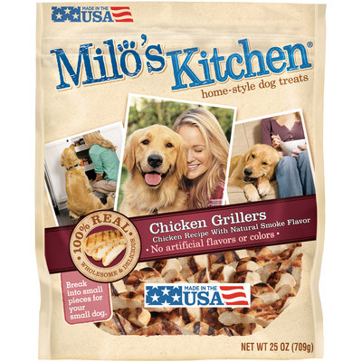 Milo's Kitchen Chicken Grillers Chicken Recipe With Natural Smoke Flavor Dog Treats, 25-Ounce