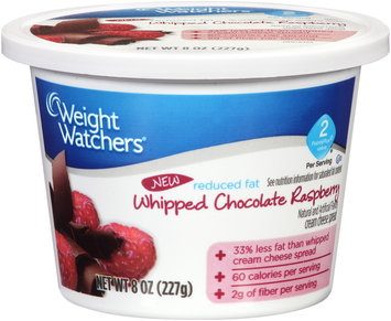 Weight Watchers® Reduced Fat Cream Cheese Spread Whipped Chocolate Raspberry 8 oz. Plastic Container