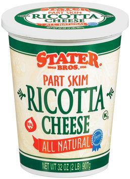 Stater Bros. Ricotta Cheese 32 Oz Tub