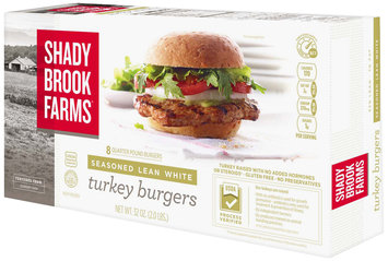 Shady Brook Farms® Seasoned Lean White Turkey Burgers 32 oz. Box