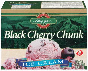 Haggen Black Cherry Chunk Ice Cream .5 Gal Carton