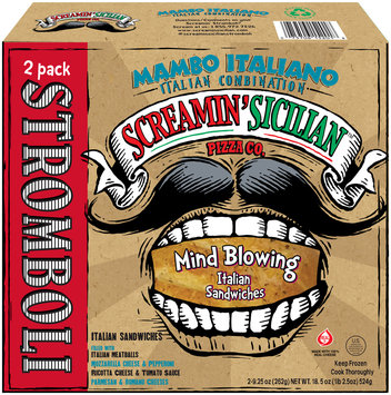 Screamin' Sicilian™ Pizza Co. Mambo Italiano Italian Combination Stromboli 2 ct Box