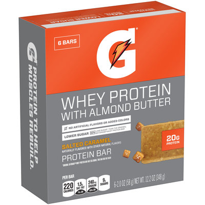Gatorade Recover® Whey Protein with Almond Butter Salted Caramel Protein Bars
