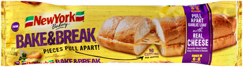 New York® Bakery Bake & Break™ Pull Apart Garlic Loaf with Cheese 11.75 oz. Pack