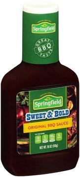Springfield® Sweet & Bold Original BBQ Sauce 18 oz. Plastic Bottle