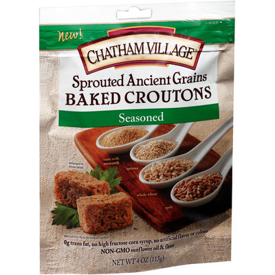 Chatham Village® Sprouted Ancient Grains Seasoned Baked Croutons 4 oz.