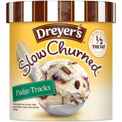 DREYER'S/EDY'S  Slow Churned Fudge Tracks Light Ice Cream 1.5 qt. Carton