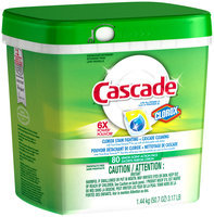 Cascade® ActionPacs™ With The Power Of Clorox® Dishwasher Detergent Lemon Burst