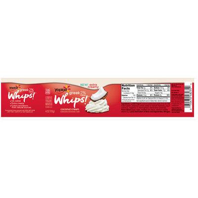 Yoplait® Greek Whips!® Coconut Cream Lowfat Yogurt Mousse 4 oz. Cup