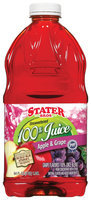 Stater Bros. Apple & Grape Unsweetened 100% Juice 64 Oz Plastic Bottle
