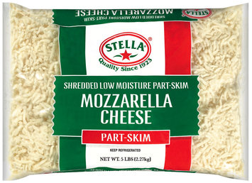 Stella® Mozzarella Part Skim Low Moisture Shredded Cheese 5 Lb Bag