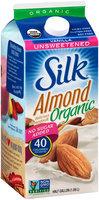 Silk® Organic Vanilla Unsweetened Almond Milk 0.5 gal. Carton