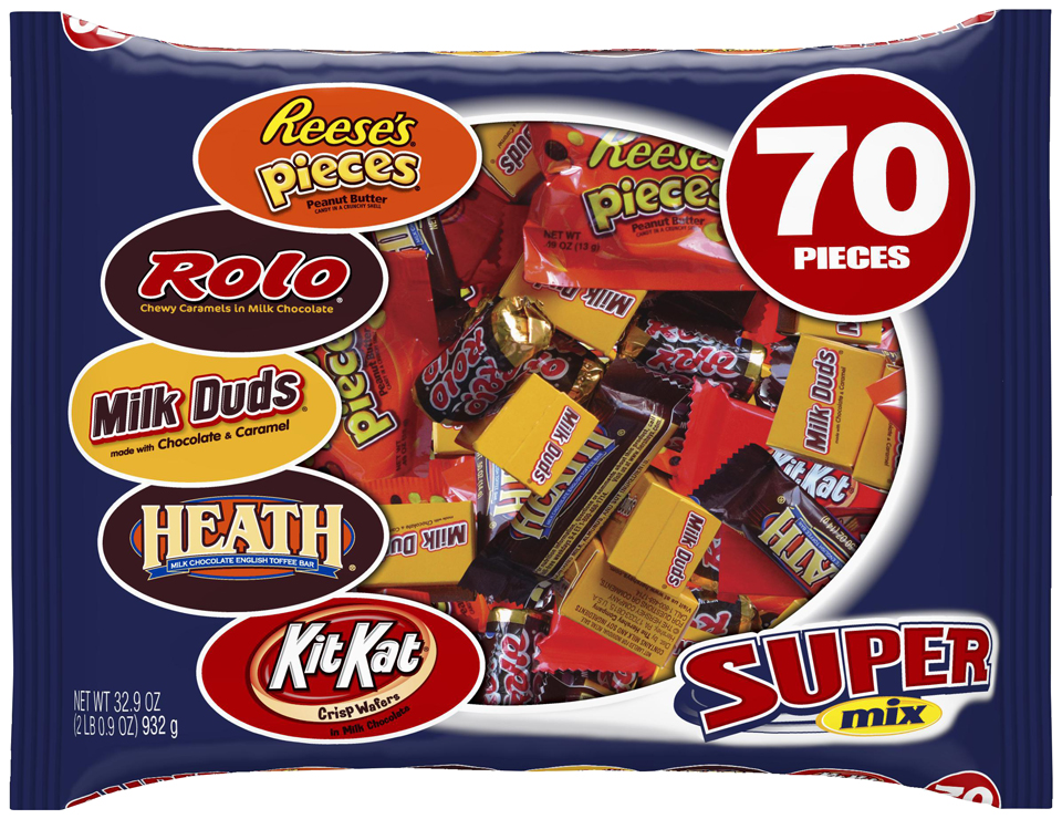 Hershey's Super Mix Assorted Candy, 70 count