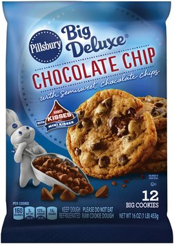 Pillsbury Big Deluxe Chocolate Chip Cookies with Hershey's Mini Kisses