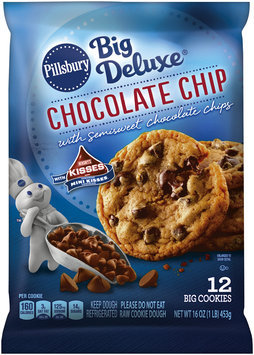 Pillsbury Big Deluxe Chocolate Chip Cookies with Hershey's Mini Kisses