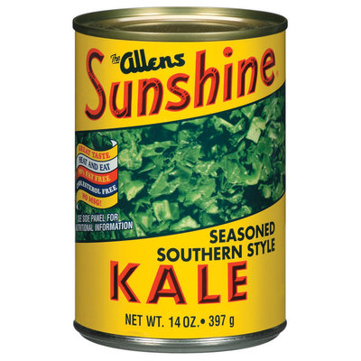 The Allens Sunshine Seasoned Southern Style Greens Kale 14 Oz Can