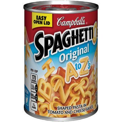 Campbell's® SpaghettiOs® Original A to Z's 14.2 oz. Can