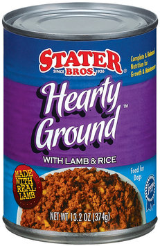 Stater Bros. Hearty Ground With Lamb & Rice Dog Food 13.2 Oz Can