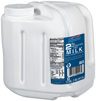 Superior 2% Reduced Fat Milk .5 Gal Jug